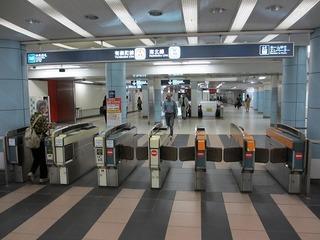 地下鉄南北線飯田橋駅改札